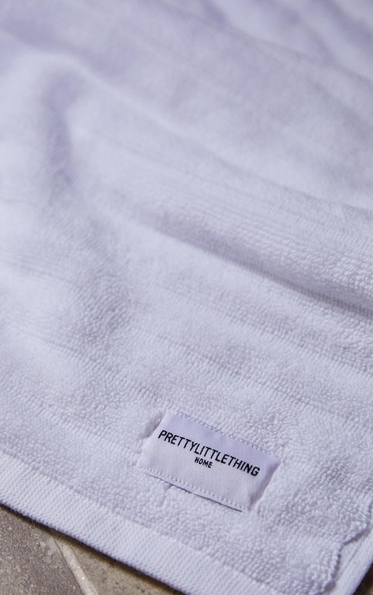 White Textured Ribbed Bath Mat 3
