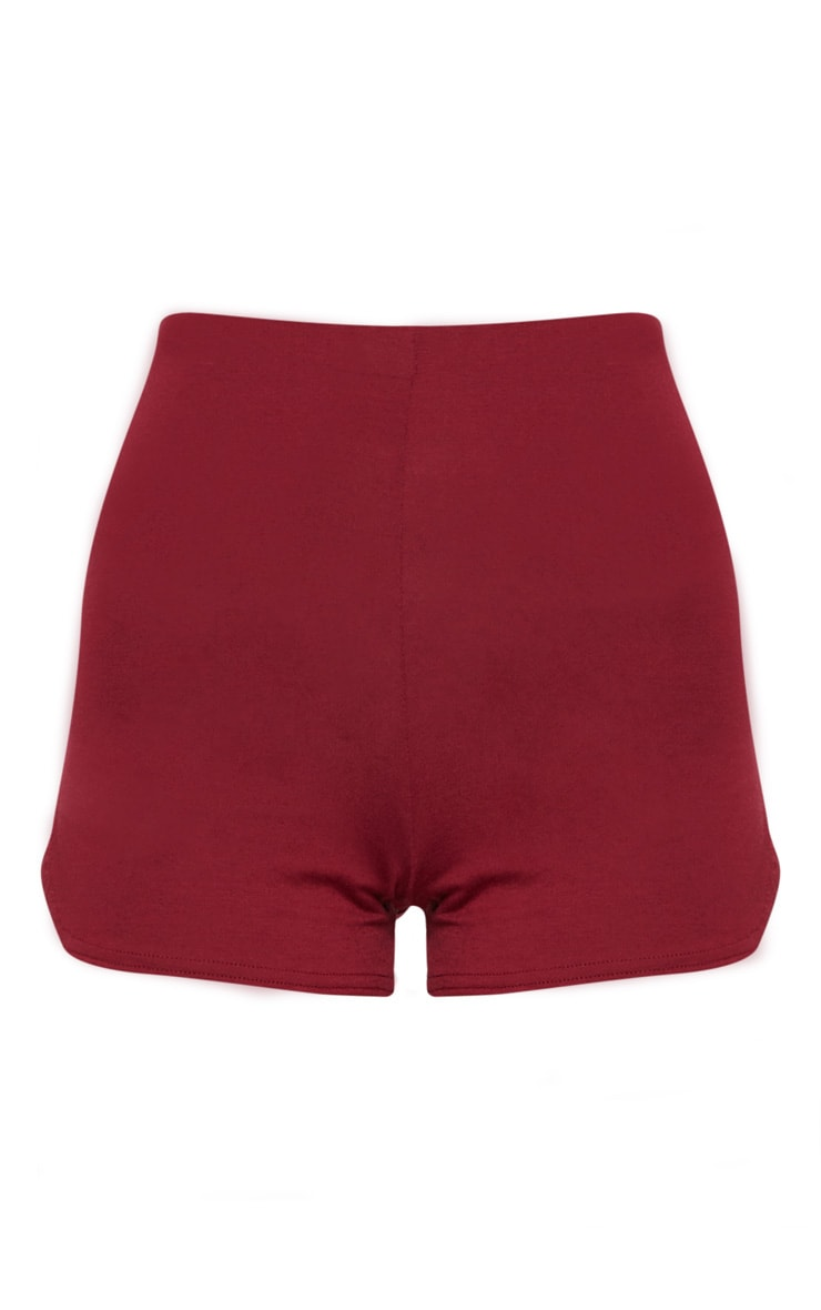 Maroon Basic Runner Short  3