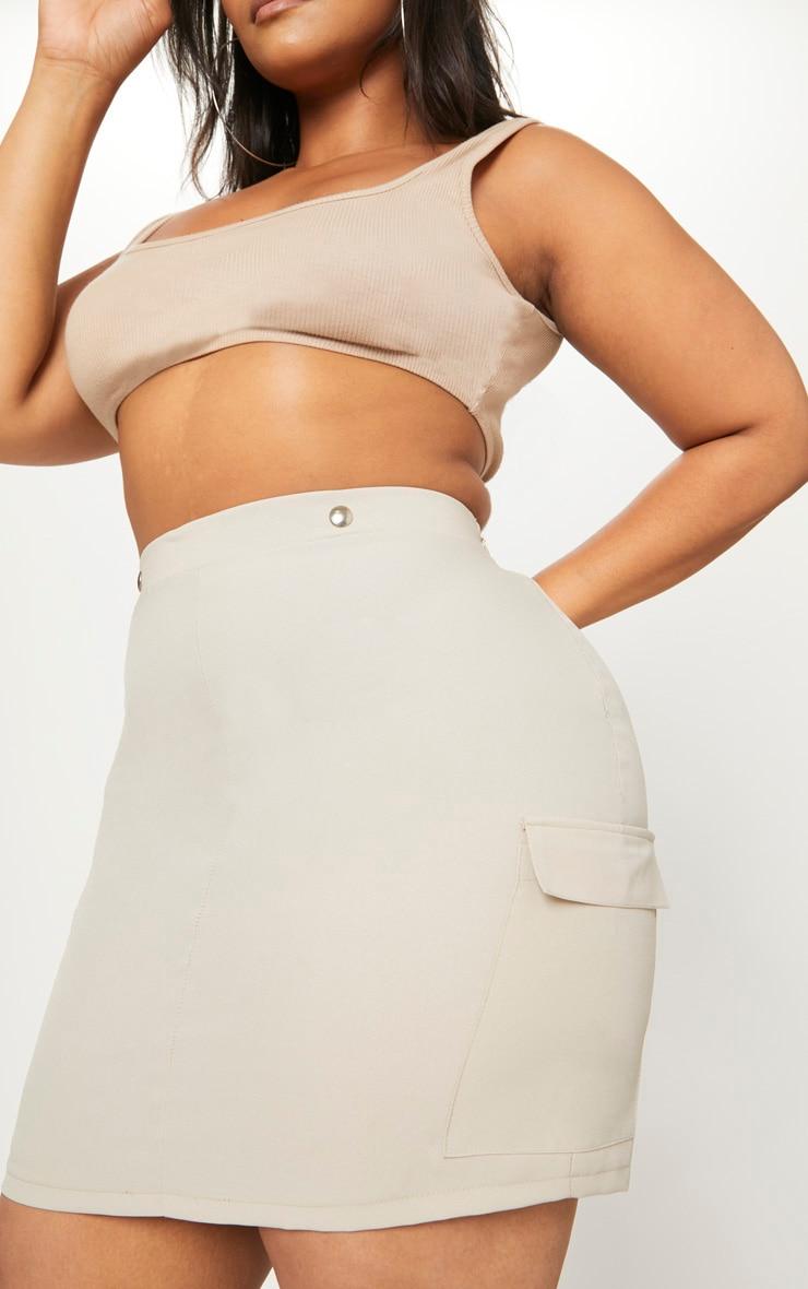 Plus Stone Utility Pocket Detail Bodycon Skirt 6