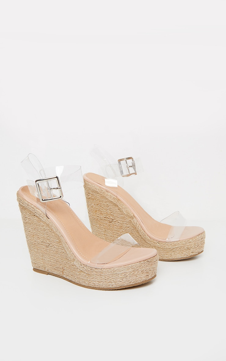 Clear Strap High Wedge 3