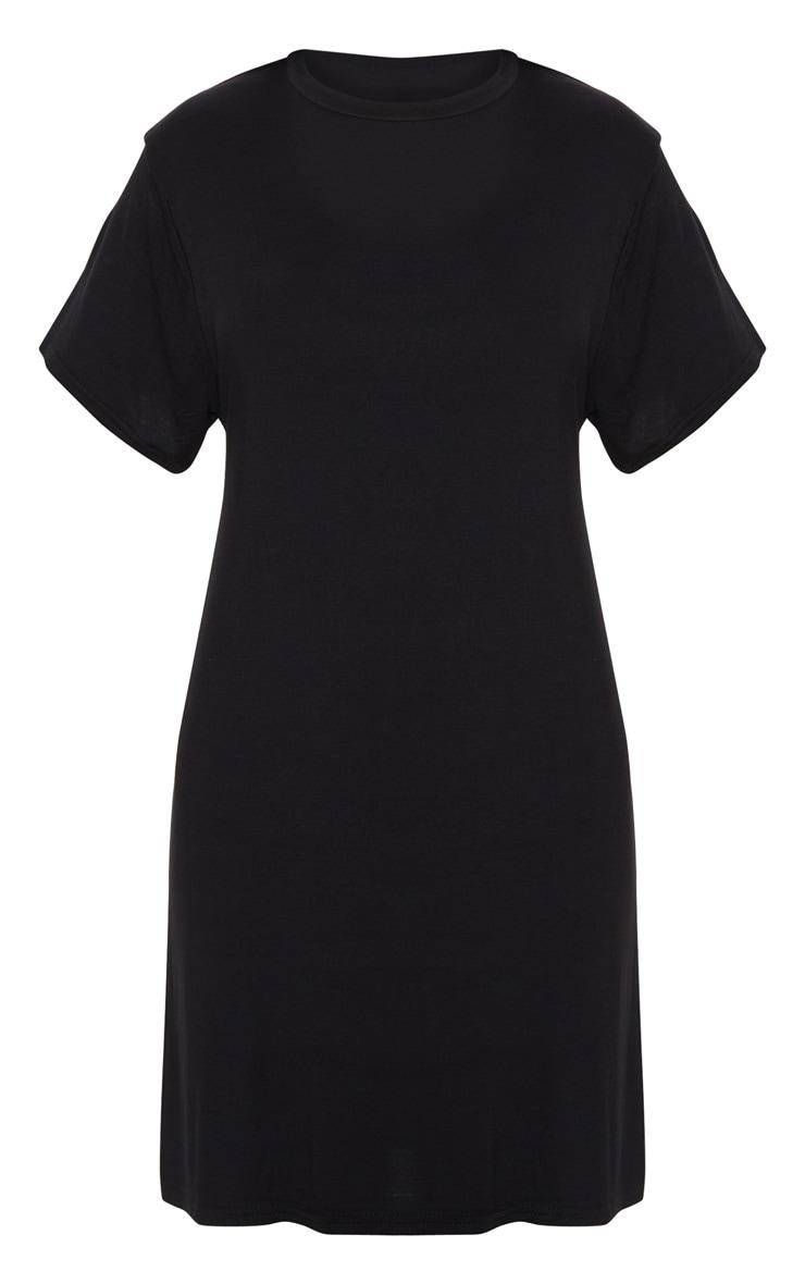 Robe t-shirt basique noire à manches courtes 3