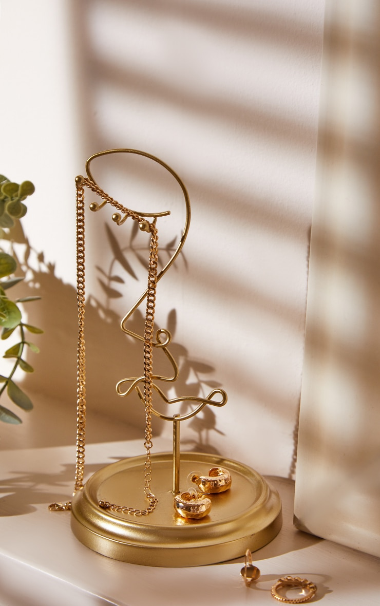 Porte-bijoux abstrait doré 1