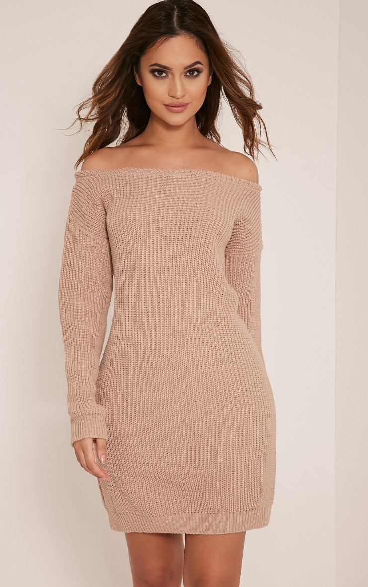 Larissa Stone Off The Shoulder Knitted Dress 5