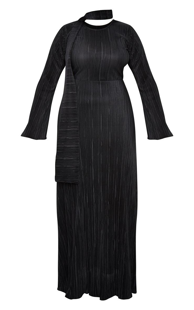 Black Pleated Abaya 5