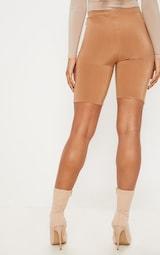 Tall Camel Slinky High Waisted Cycle Shorts 4