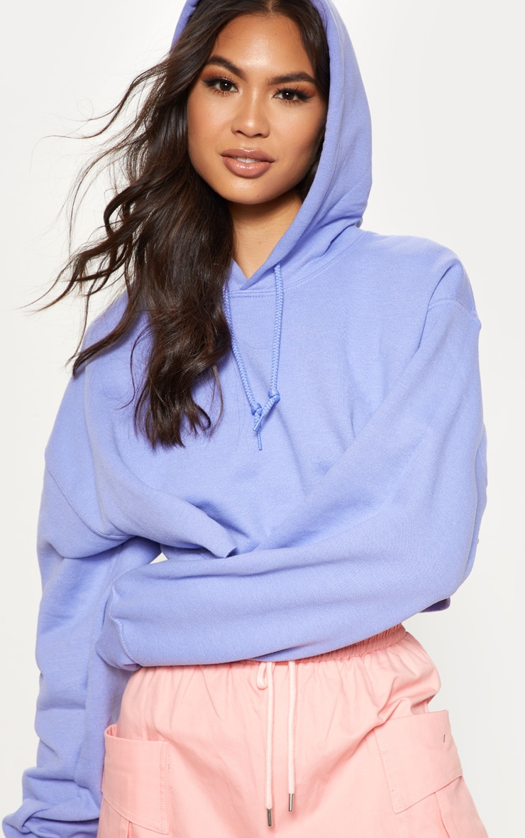 Lilac Ultimate Oversized Crop Hoodie 5
