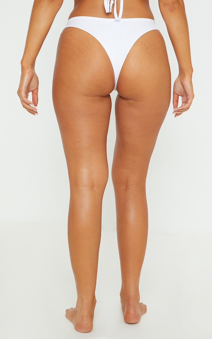 Khaki Tri Colour High Leg Bikini Bottom 4
