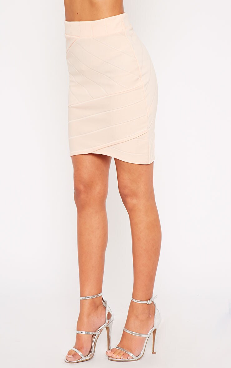 Kirsten Nude Bandage Mini Skirt 3