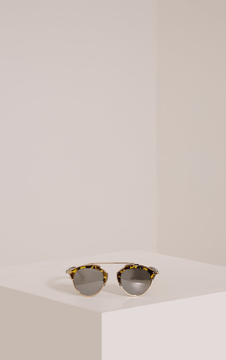 Terie Multi Tortoise Print Cut Out Frame Sunglasses 3