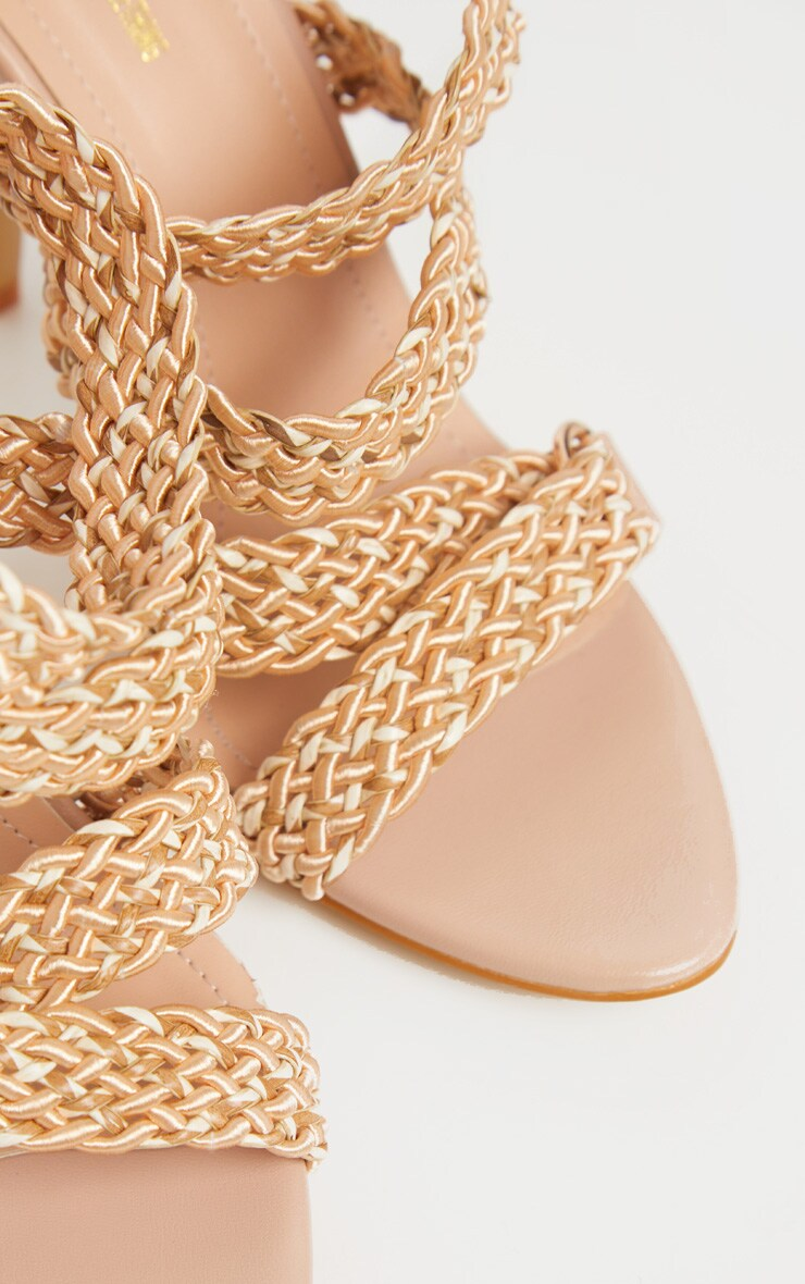 Natural Buckle Clasp Rope Strap Sandal 4
