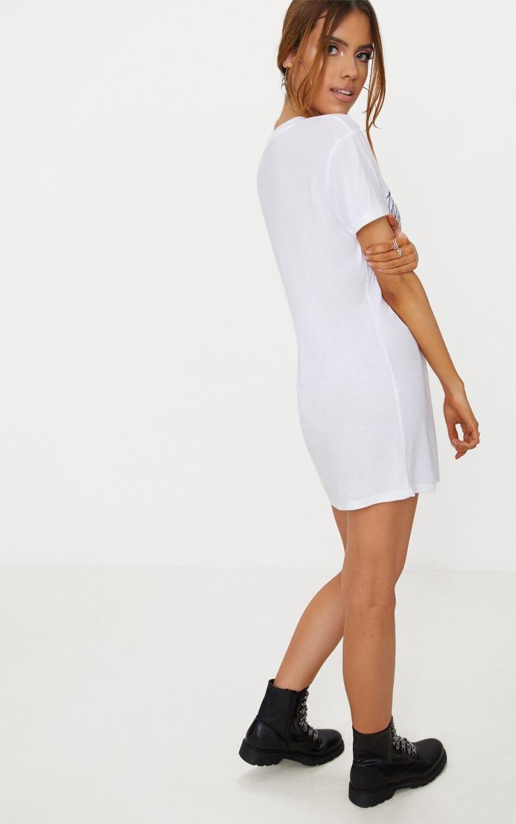 White High Voltage T-Shirt Dress 2