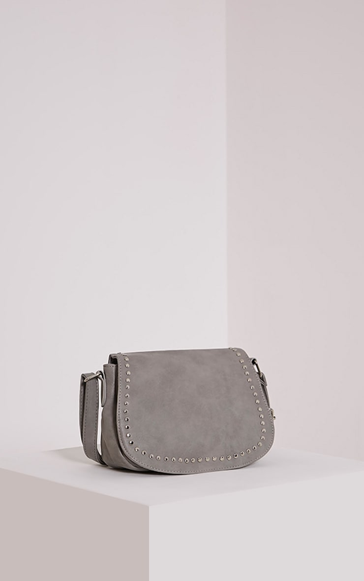 Dusti Grey Studded Shoulder Bag 1