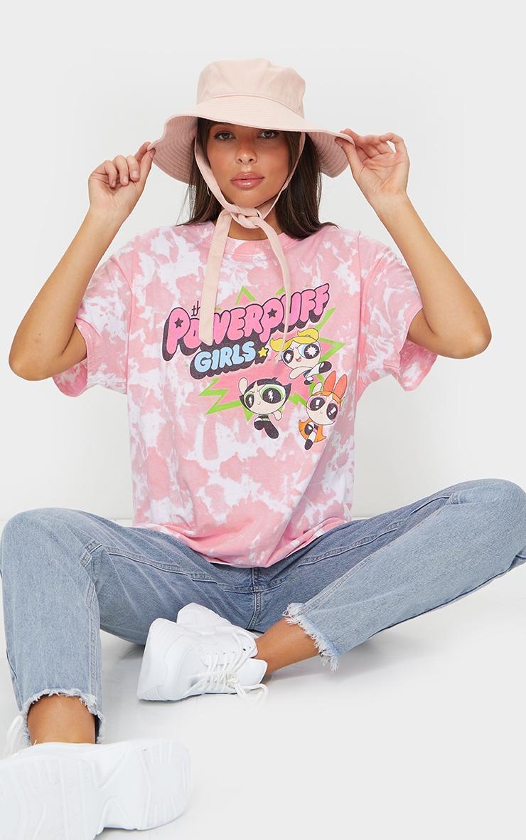 Pink Powerpuff Girls Tie Dye Printed T Shirt 3