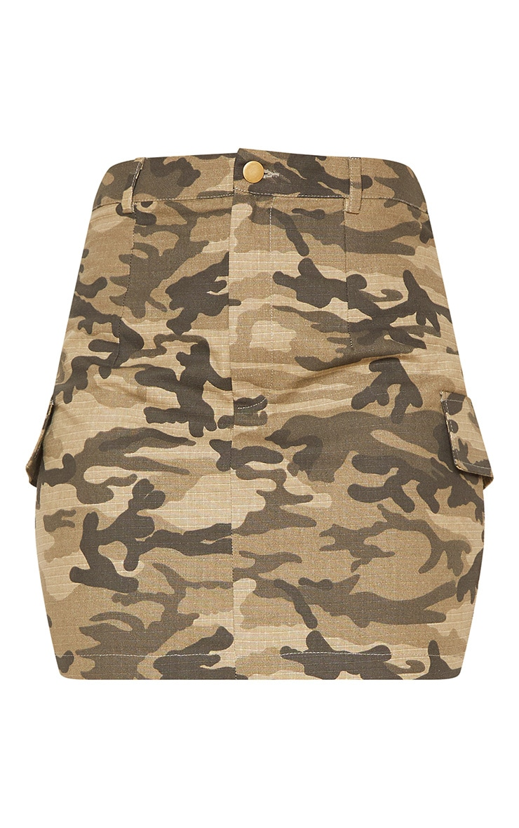 Green Cargo Camo Mini Skirt 3