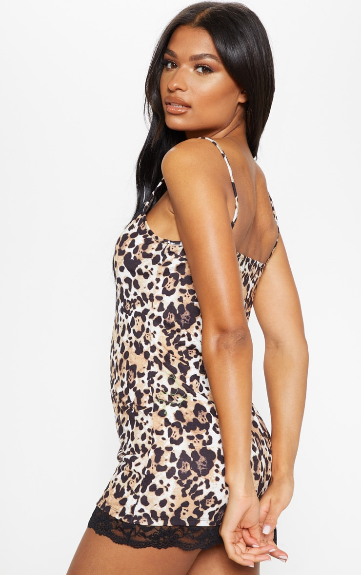 Leopard And Lace Slip Dress 2