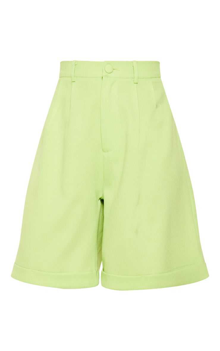 Lime Turn Up Hem Longline Short 3