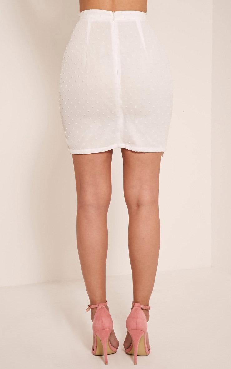 Taniya White Lace Trim Mini Skirt 5