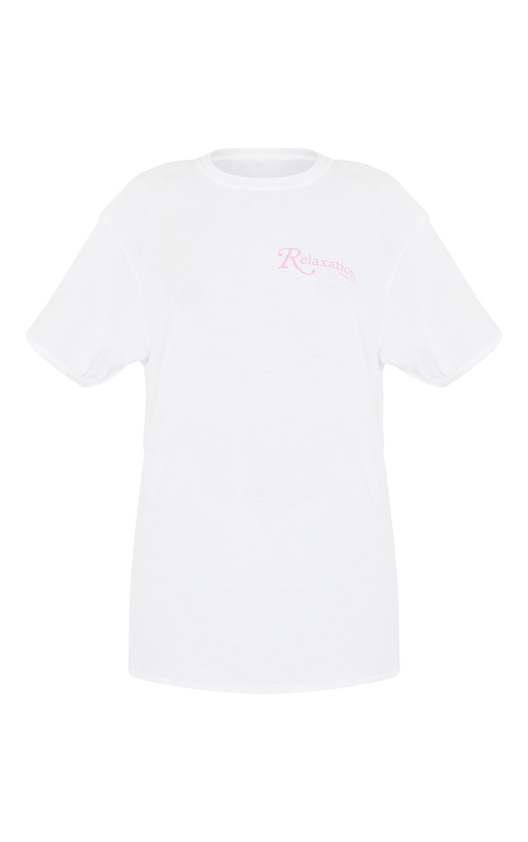 White Relaxation Since 1976 Printed T Shirt 5
