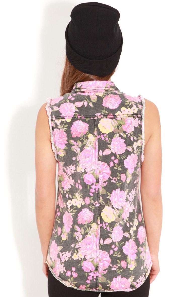Maggie Floral Black Waistcoat 2
