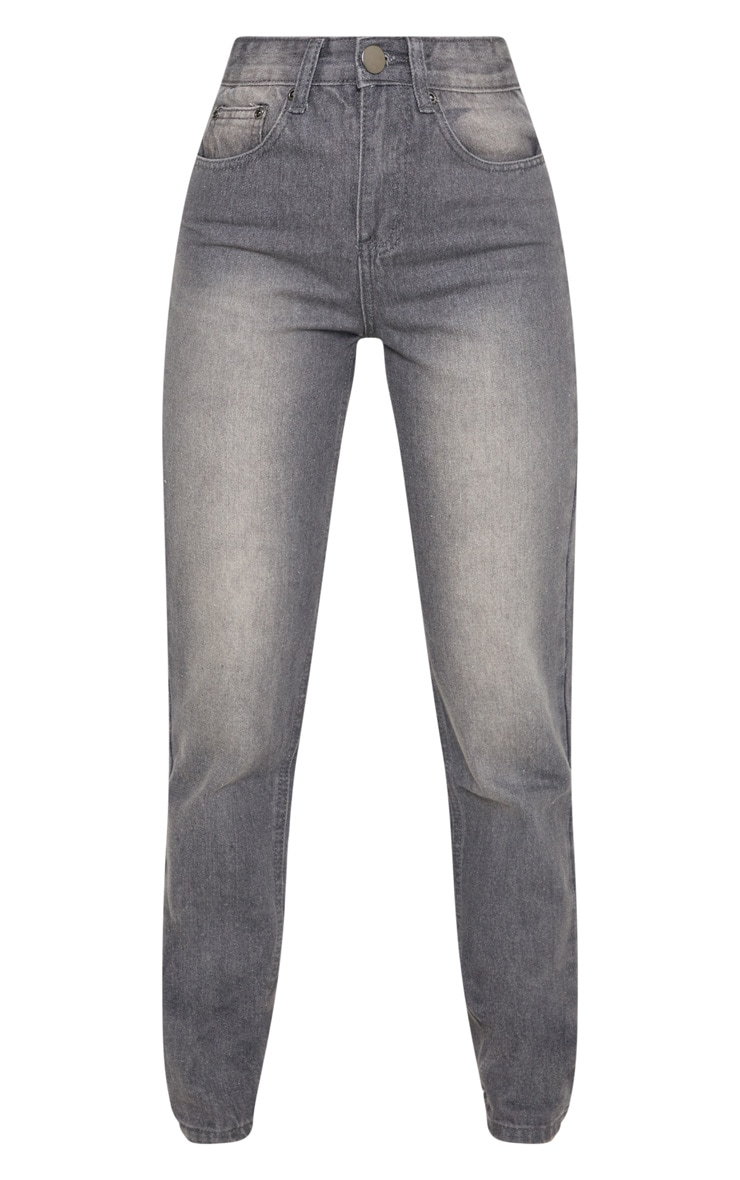 Petite Charcoal Mom Jeans 3