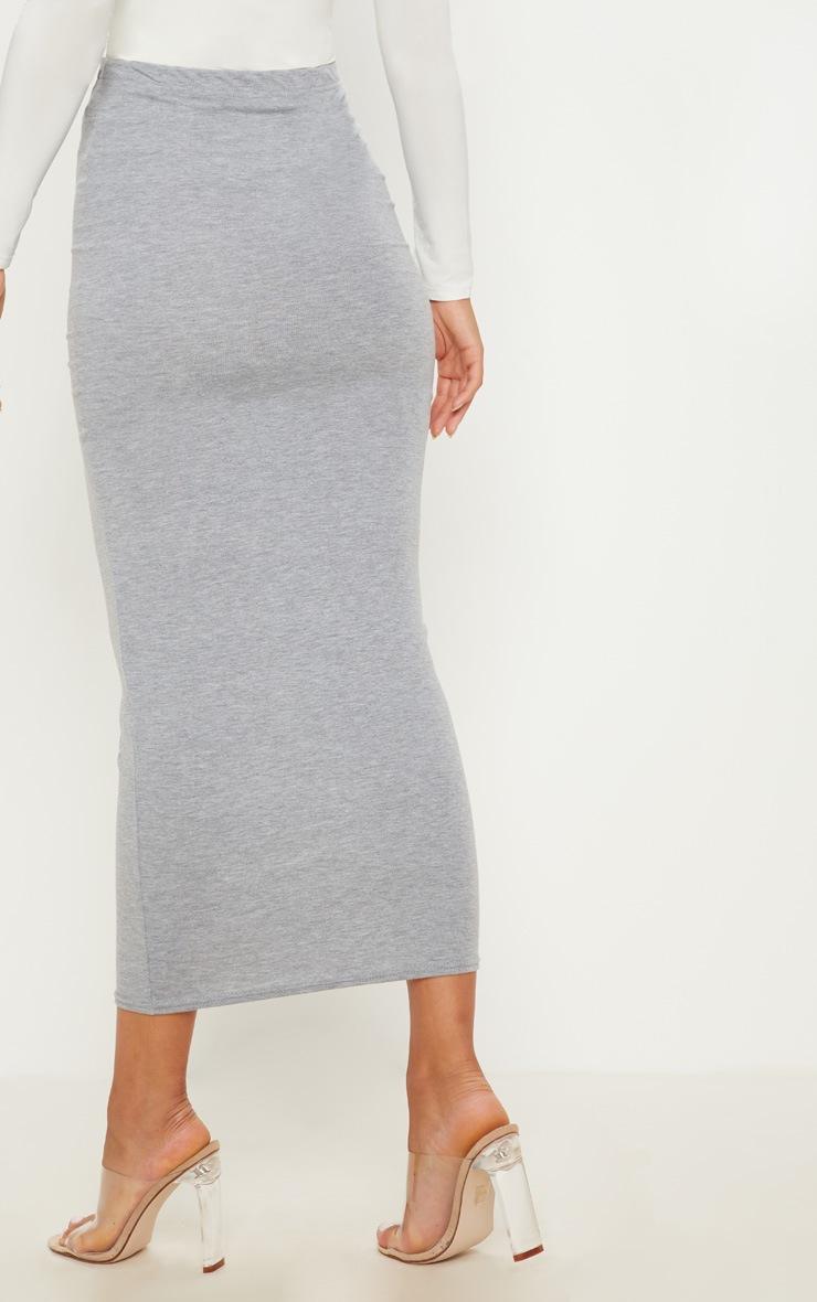 Basic Grey Midaxi Skirt 4