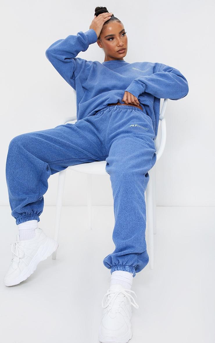 PRETTYLITTLETHING Blue Oversized Sport Sweatshirt 3
