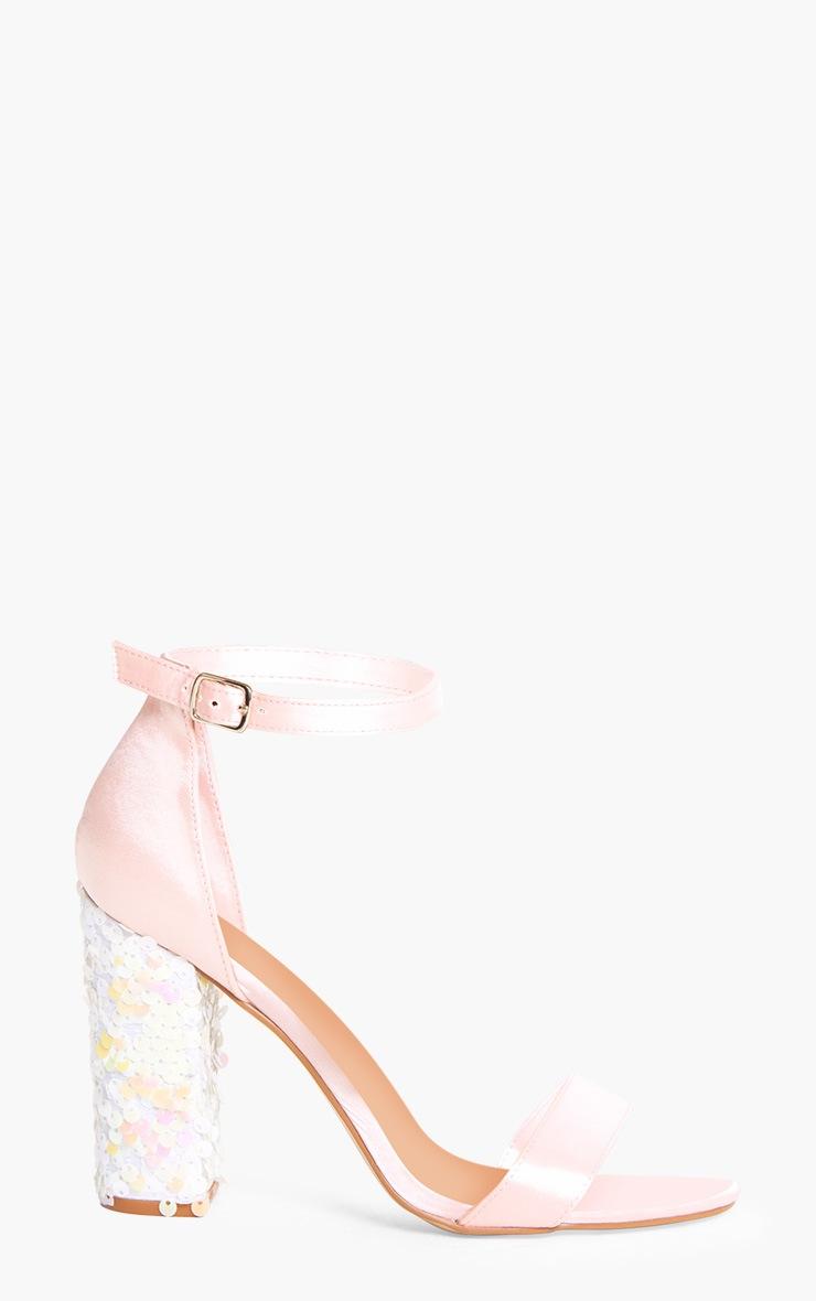Kaya Ice Pink Sequin Heeled Sandals 3