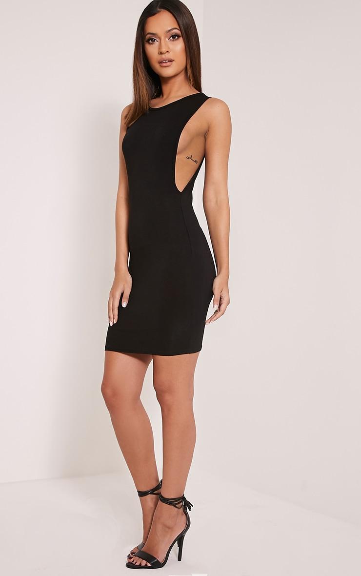 Basic robe moulante à emmanchures larges noire 5