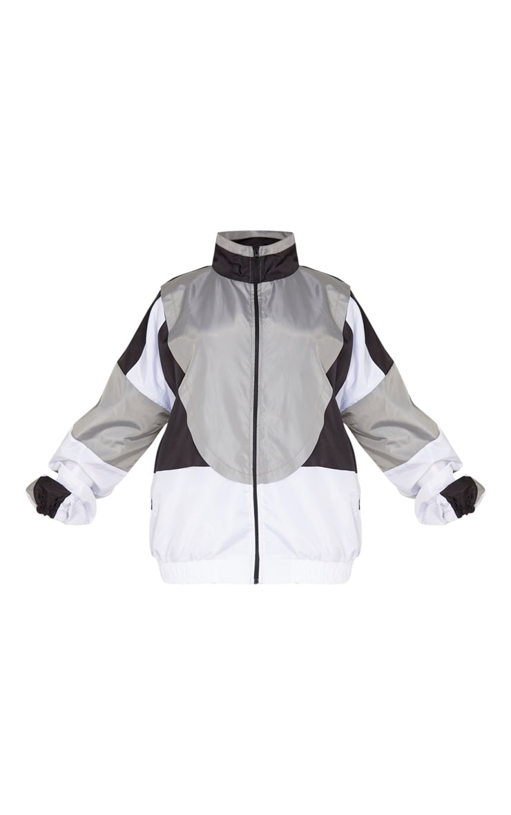 Plus Black Contrast Shell Jacket 3