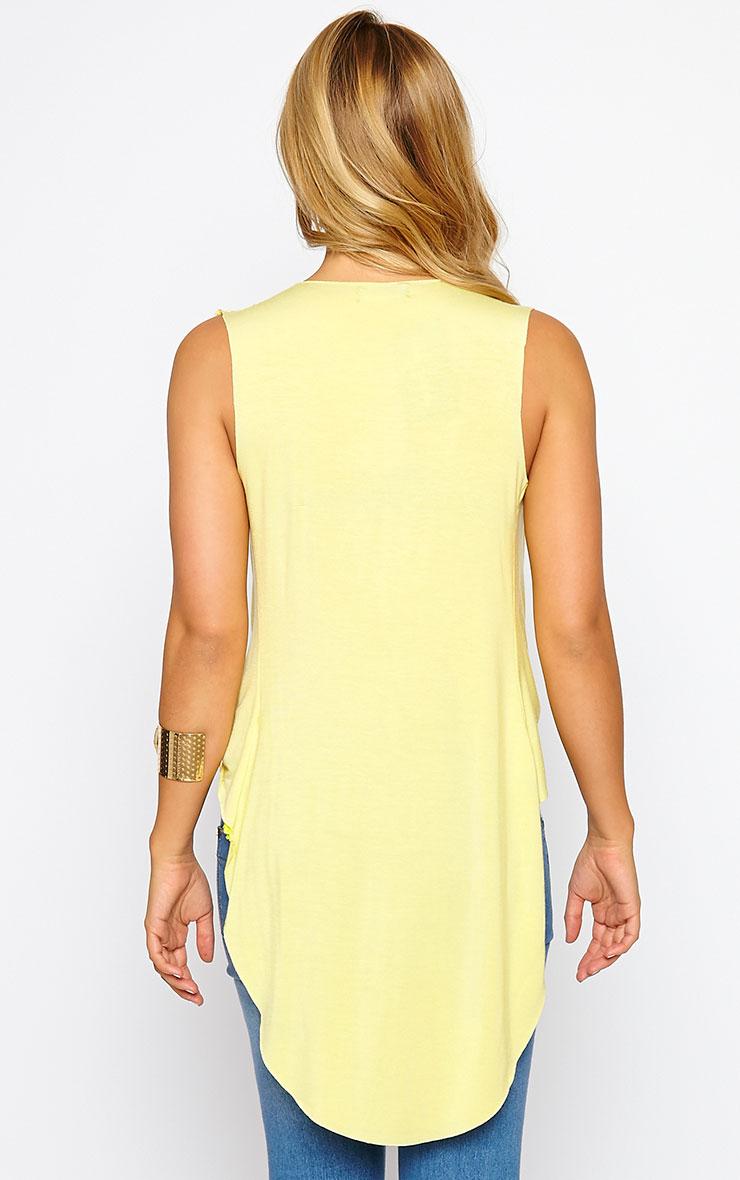 Jodeane Lemon Twist Front Sleeveless Top 2