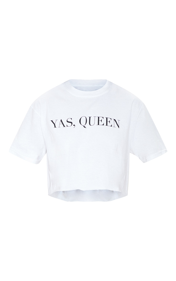 White YAS QUEEN Crop Tee  4