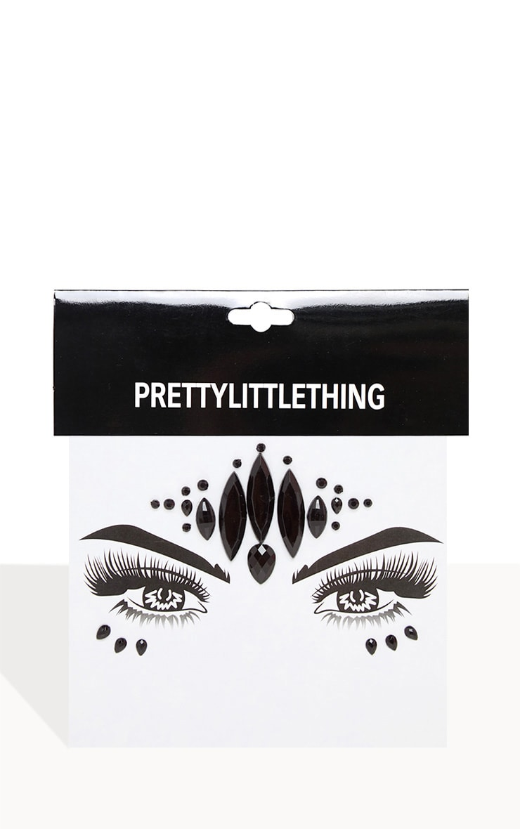 PRETTYLITTLETHING Dark Magic Face Jewels 4