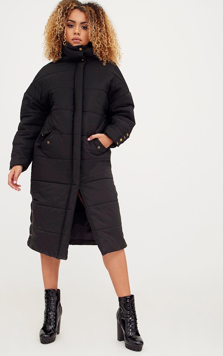 Premium Black Longline Puffer Jacket 4