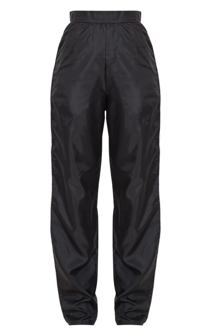 Black Contrast Binding Shell Wide Leg Trouser  3