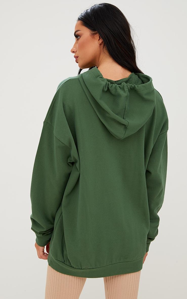 Khaki Oversized Hoodie 2