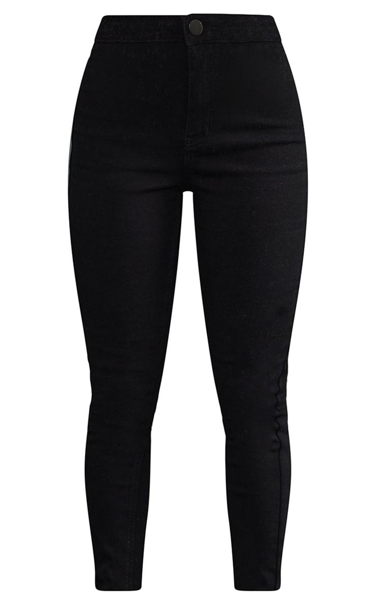 Petite - Jean skinny taille haute noir 5