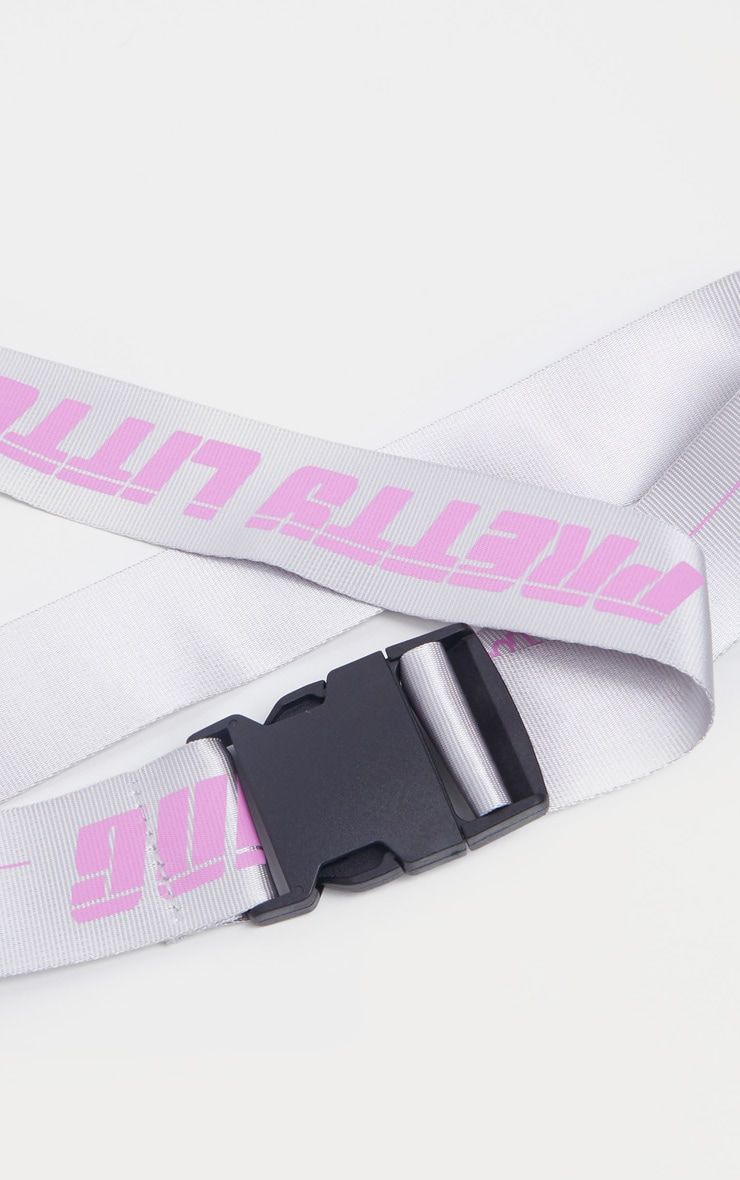 PRETTYLITTLETHING Neon Pink Taping Belt 3