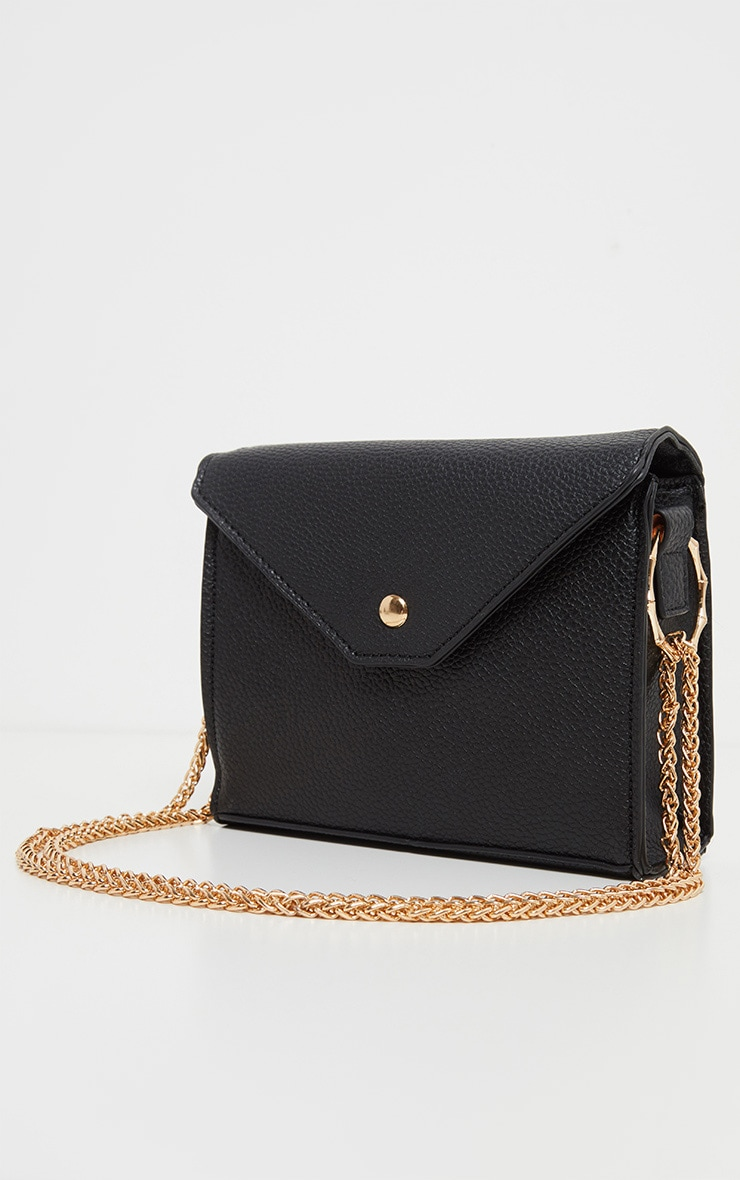 Black Bamboo Trim Chain Cross Body 2
