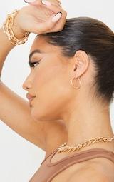 Gold Mini Hoop Earrings 1