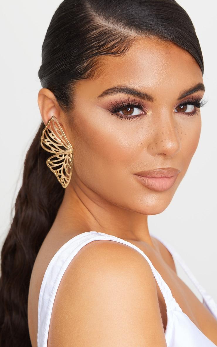 Gold Butterfly Earrings 1