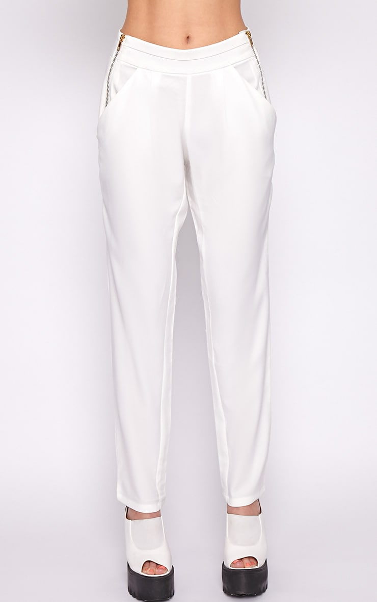 Breanna White Tailored Linen Trousers 4