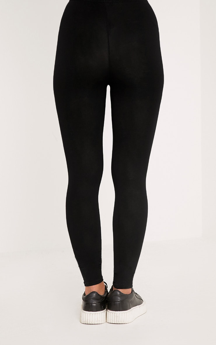 Petite Clarinda Black Basic Leggings 4