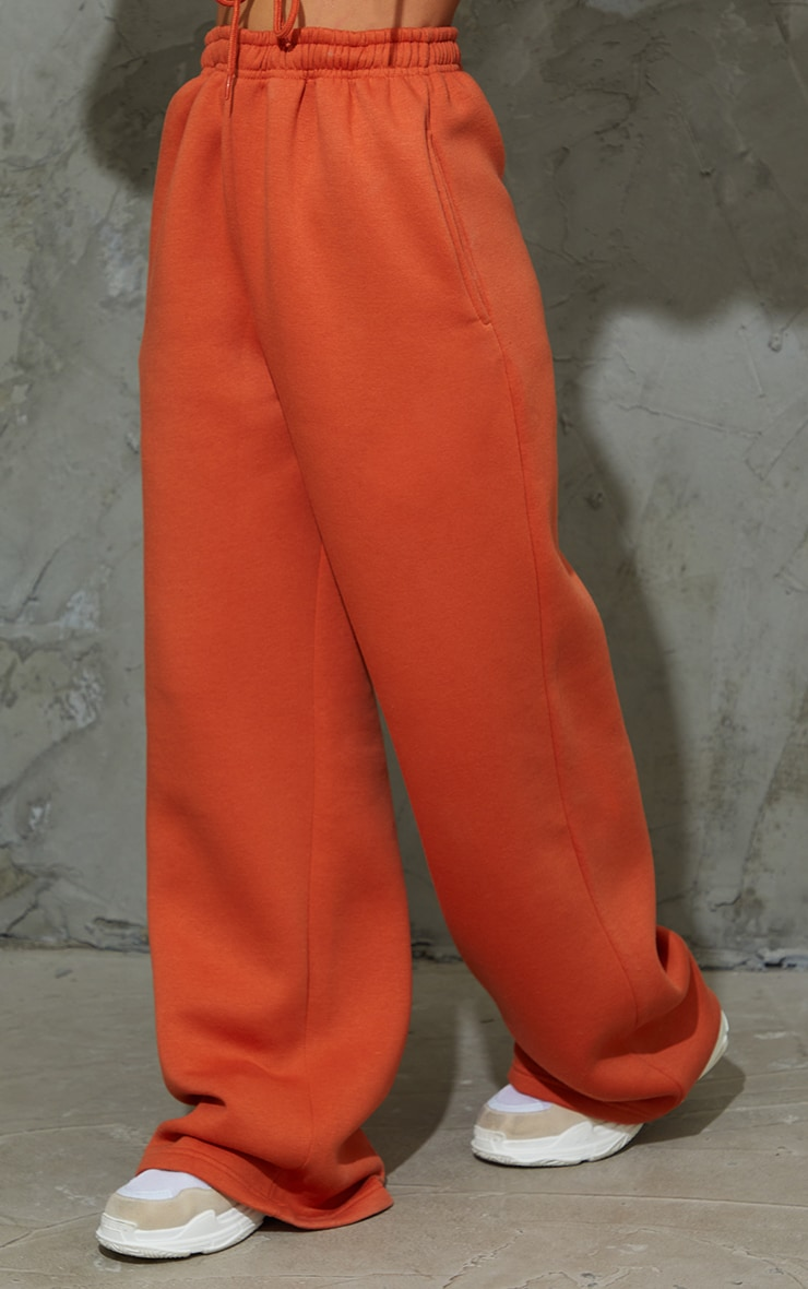 Burnt Orange Wide Leg Joggers 2