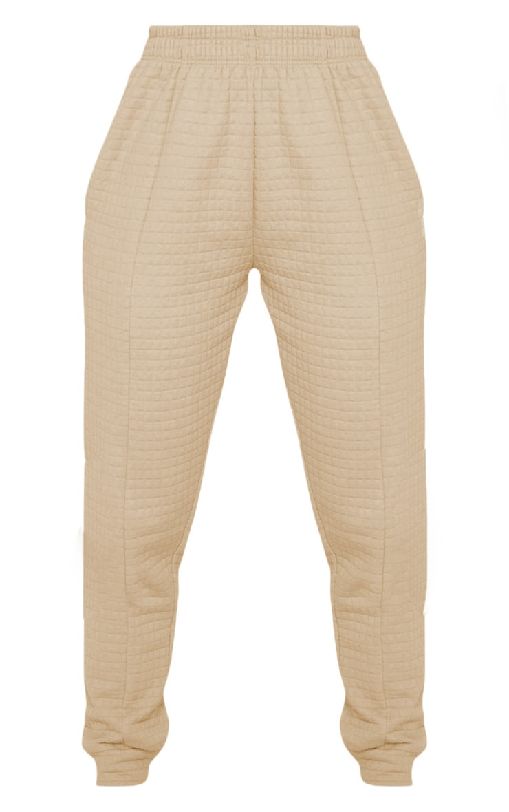 Camel Quilted Jogger 3