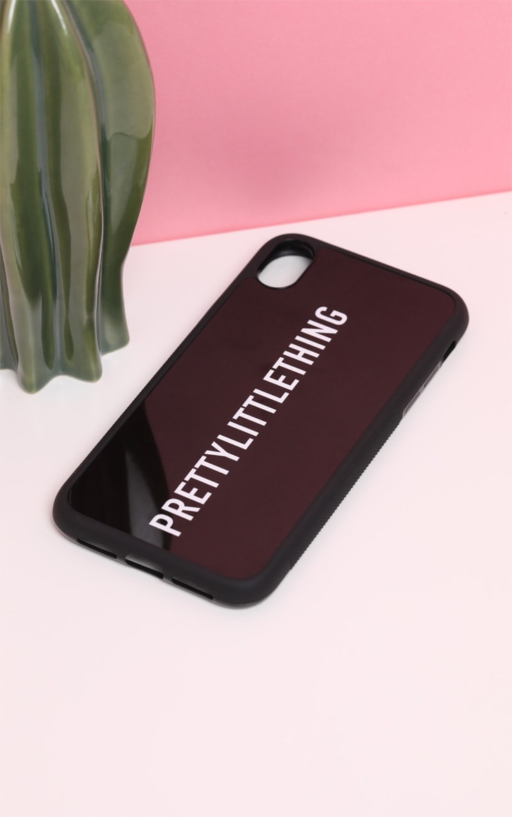 PRETTYLITTLETHING Black Logo 7 Plus iPhone Case 3