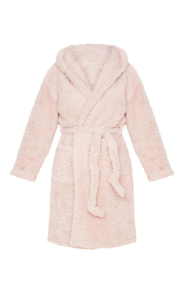 Taupe Teddy Ear Fluffy Robe 3