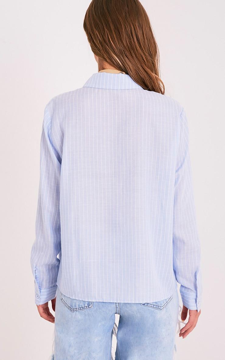 Bethany Light Blue Soft Stripe Shirt 2