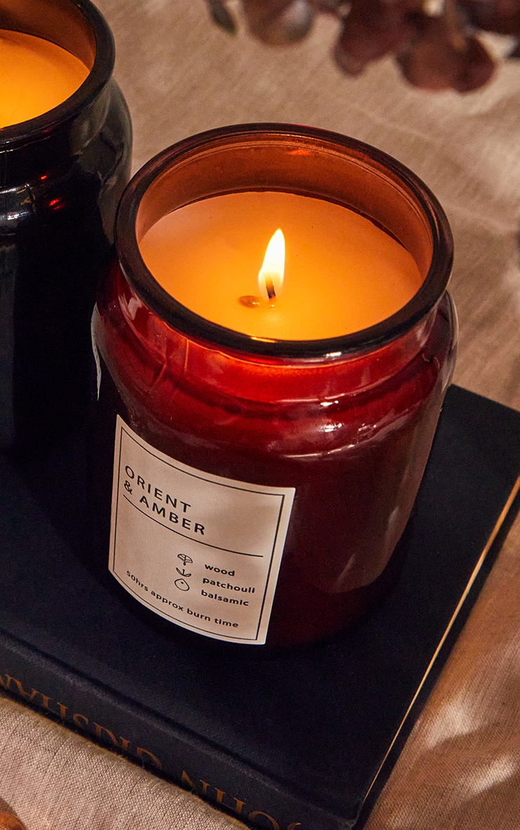 Orient & Amber Scented Glass Jar Candle 1