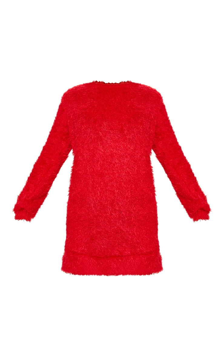 Red Eyelash Jumper Dress  3