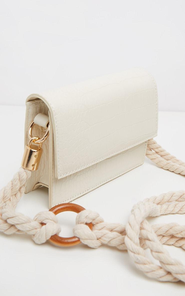 White Croc Bag 4